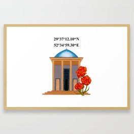 Tomb Of Saadi Framed Art Print