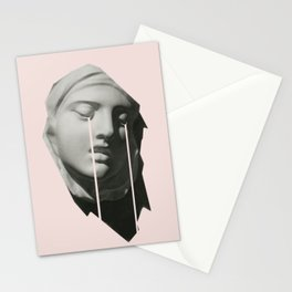 Tears in pink Stationery Cards