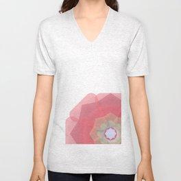 Pink Floral Meditation Unisex V-Neck
