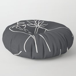 Abstract Minimal Woman III Floor Pillow