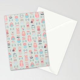 Boho owls Stationery Cards