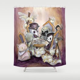 The Four Horsemen: Game night Shower Curtain