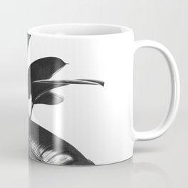 Black Ficus Elastica Coffee Mug