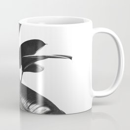 Black Ficus Elastica Coffee Mug