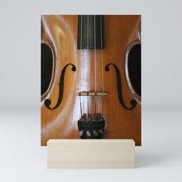 Close-up of Beautiful Violin Black Background #decor #society6 #buyart Mini Art Print