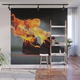 Flaming Fiery Shoe Wall Mural