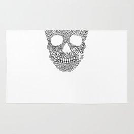 Skull / lines Rug