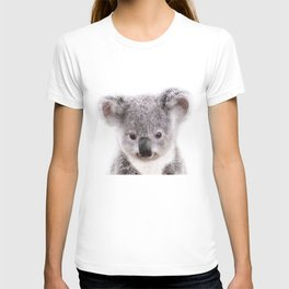 Baby Koala, Baby Animals Art Print By Synplus T-shirt