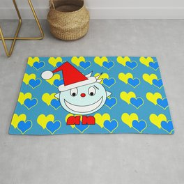 Funny Laughing Head Rug