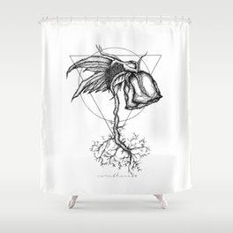 Fluer Morte Shower Curtain