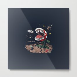 Old game eat-man plant Metal Print