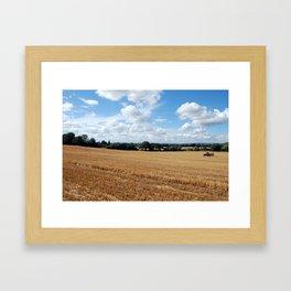 End of the harvest Framed Art Print