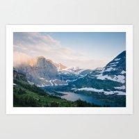 Hidden Lake, Glacier National park Art Print