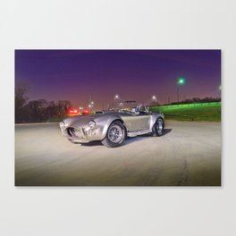 1965 Shelby Cobra at night Canvas Print