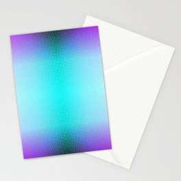 Purple Blue Black Ombre Hexagons Bi-lobe Contact binary Stationery Cards