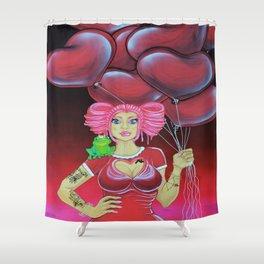 Valentine Vixen, Calendar Collection Shower Curtain