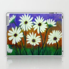 White daisies-Abstract Laptop & iPad Skin