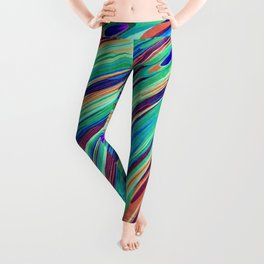 Peacock feather abstraction Leggings