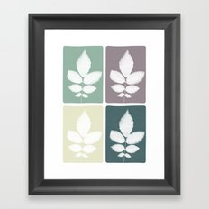 color block 4: muted Framed Art Print