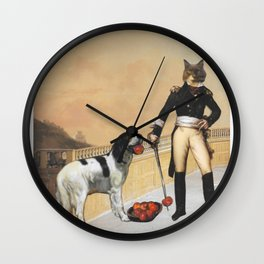 How Cats See Themselves Wall Clock