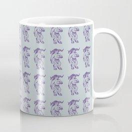 Ancient Minotaur Mythical Mythology Color Pattern Coffee Mug