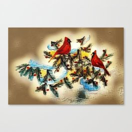 """Cardinals"" Canvas Print"