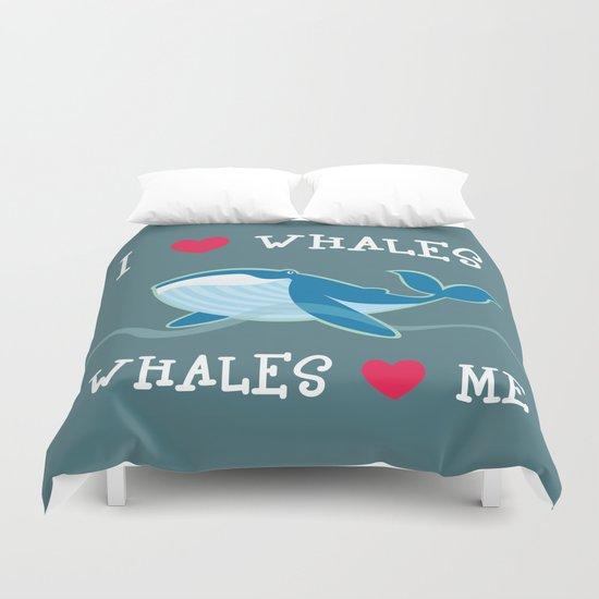 love whales Duvet Cover