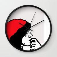 libra Wall Clocks featuring Libra by Bree Stillwell Craft