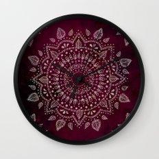 Wine Mandala Wall Clock