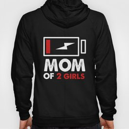Mom 2 Girls Hoody