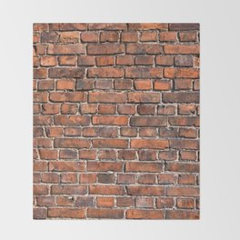 Texture - Brick wall Throw Blanket