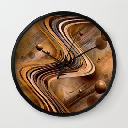 Chocolate Waves Wall Clock