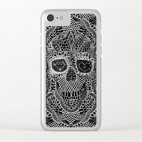 Lace Skull Clear iPhone Case