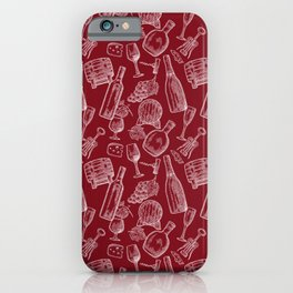 wine time (white on red) iPhone Case