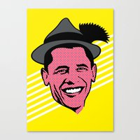 obama Canvas Prints featuring Obama by artpuerto