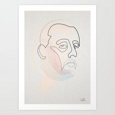 One Line Leon  Art Print