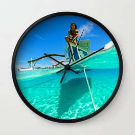 Positive tropical motivation: Live free #15 Wall Clock