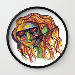 COLORFUL BABE Wall Clock
