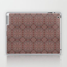 Peach, gray and chocolate lace Laptop & iPad Skin
