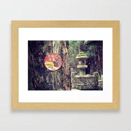Mount Koya #6 Framed Art Print