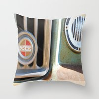 jeep Throw Pillows featuring Jeep by AnniarchyDesigns