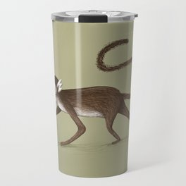 Squirrel Monkey Walking Travel Mug