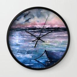 Coucher de soleil sur mer Wall Clock
