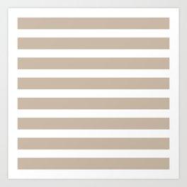 Brown horizontal stripes Art Print