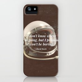 """""""I Don't Know Where I'm Going"""" Bowie Tribute iPhone Case"""