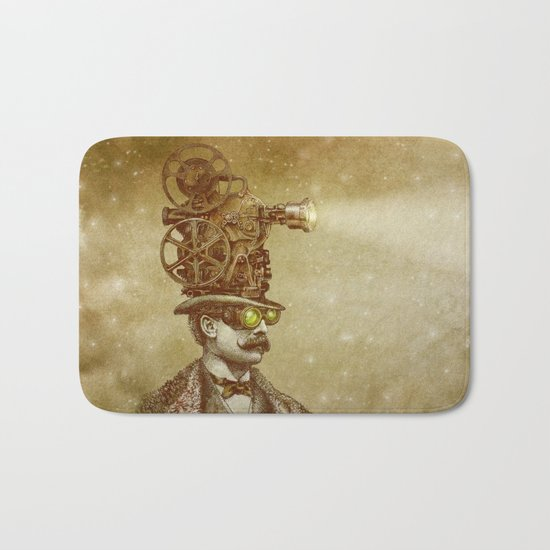 The Projectionist (sepia option) Bath Mat