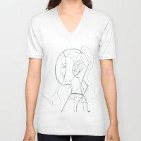 suit V-neck T-shirts featuring Suit by Maegan Ochse