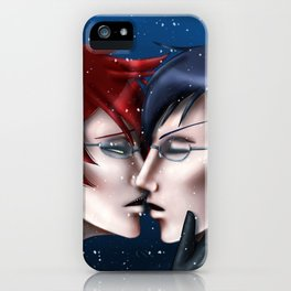 A Kiss in the Snow iPhone Case