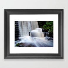 Top Waterfall Framed Art Print