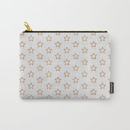 Chic white faux gold glitter modern stars pattern Carry-All Pouch
